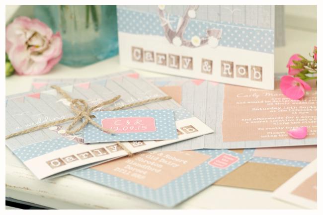 seaside beach rustic wedding stationery invitations