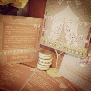 country wedding invitation stationery