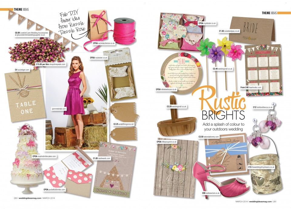 RUSTIC BRIGHT floral wedding stationery invitations