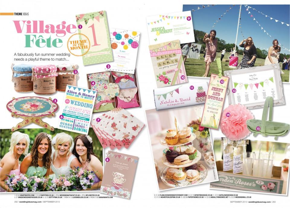 festival summer fete tea party wedding stationery invitations