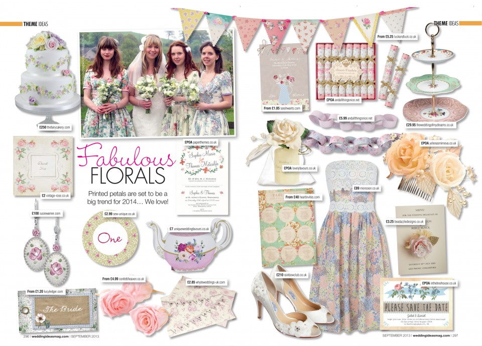pretty floral wedding stationery invitations