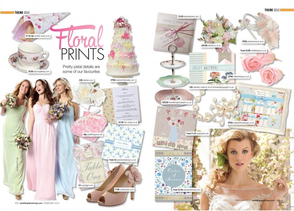 floral print wedding stationery invitations