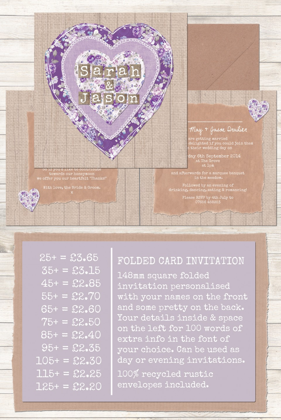 Products prices rustic vintage country wedding stationery Wedding invitation cost