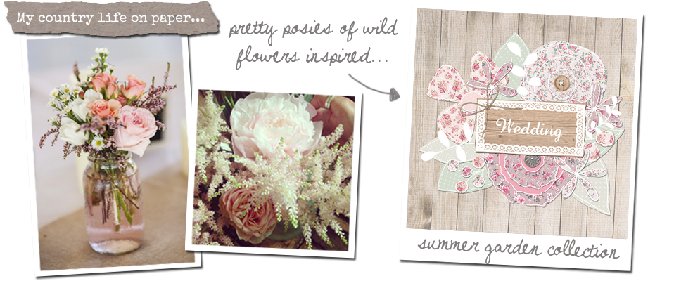summer garden collection. floral, rustic, country, vintage wedding stationery & invitations