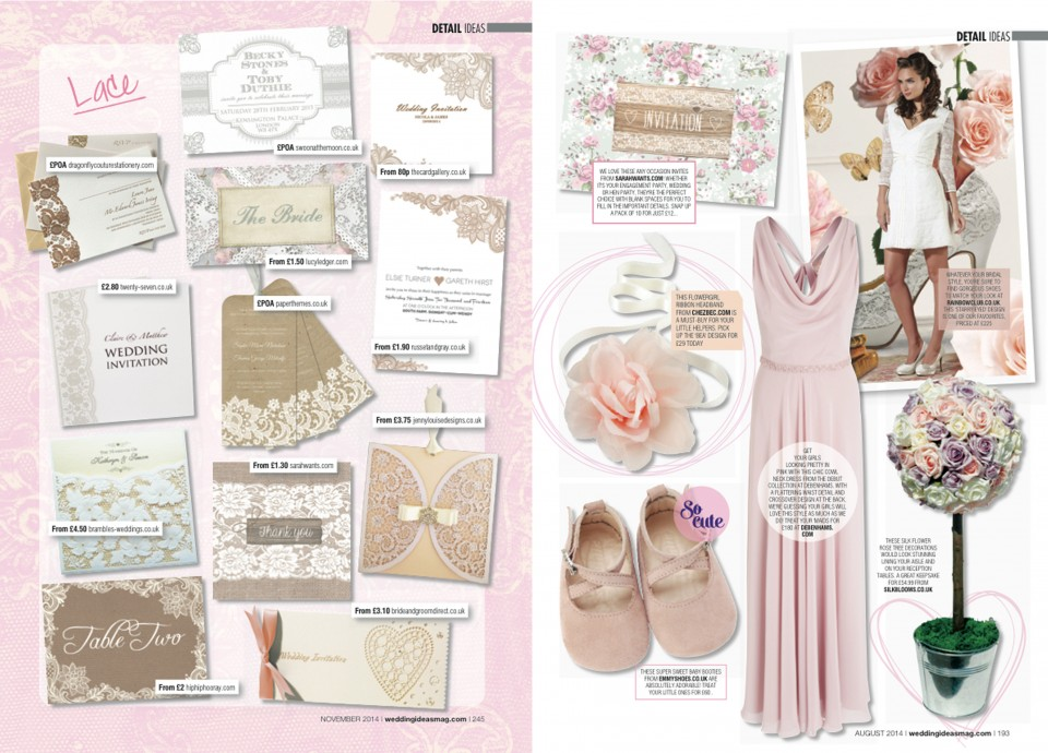 lace invitation floral ready to write invitations wedding stationery