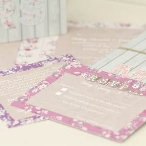 botanic whimsy rustic floral pastel wedding stationery & invitations
