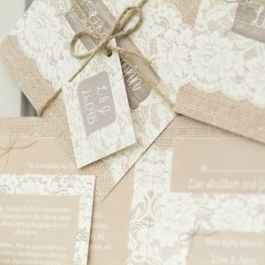 chantilly lace rustic vintage country wedding stationery & invitations