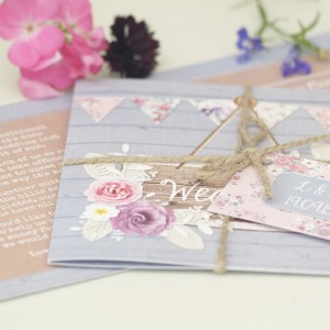 cornflower meadow rustic floral pastel wedding stationery & invitations