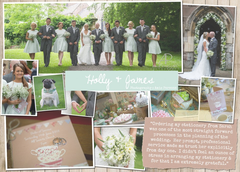 Holly & James Rustic country vintage shabby chic floral cath kidston wedding invitations and stationery