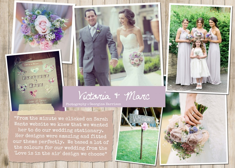 Victoria & Marc Rustic country vintage shabby chic floral cath kidston wedding invitations and stationery