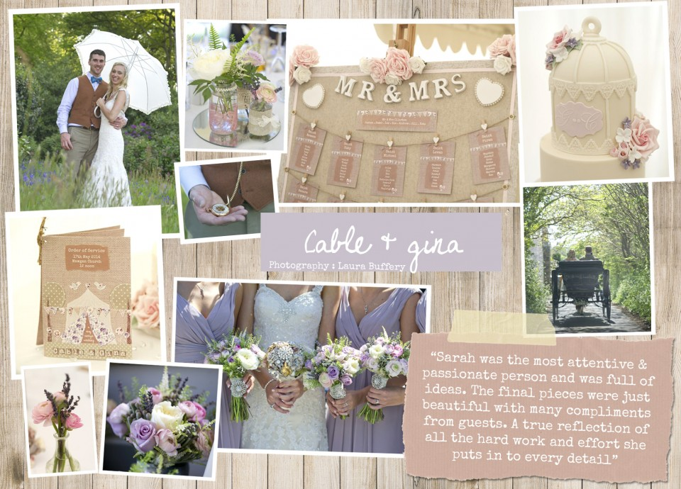 cable & Gina  Rustic country vintage shabby chic floral cath kidston wedding invitations and stationery