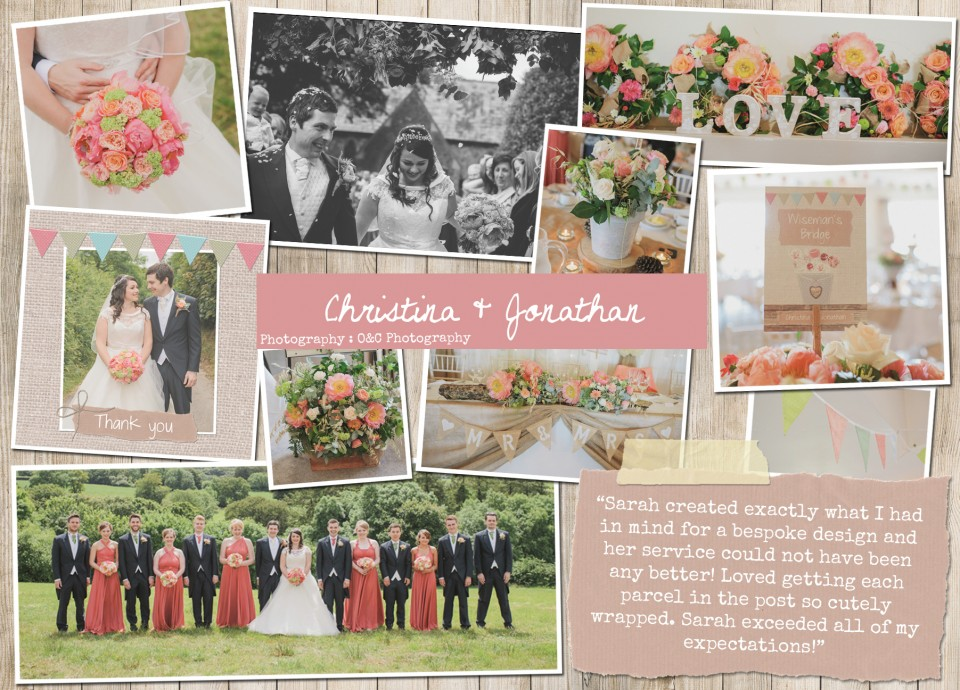Christina Jonathon Rustic country vintage shabby chic floral cath kidston wedding invitations and stationery