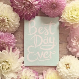 best day ever floral pretty quote wedding stationery invitations