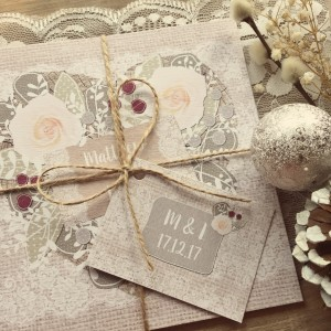 rustic glamorous winter wedding invitations and stationery
