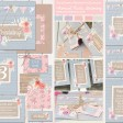 Sarah Wants Cornflower Meadow Rustic country vintage wedding stationery and invitations, cornflower blue, bright flowers, pink, peach, bunting, pattern, floral, flowers, shabby chic, wood, thumbnail