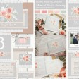 Sarah Wants Floral Mist Rustic country vintage wedding stationery and invitations, grey, peach, pink, apricot, ribbon, lace, soft, muted, pastel, pretty, flowers, floral thumbnail