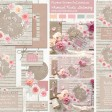 Sarah Wants Flower Crown Rustic country vintage wedding stationery and invitations, floral, flowers, roses, pastel, pink, peach, cream, coral, wood, log, whimsical, pretty, flowercrown thumbnail