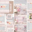 Sarah Wants Ivory Blush Rustic country vintage wedding stationery and invitations, blush pink, grey, lace, wood, flowers, vintage, floral, pretty, pastel, whimsical, summer garden thumbnail