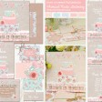 Sarah Wants Love is Sweet Rustic country vintage wedding stationery and invitations, wedding cake, pastel pink, powder blue, mint, floral, flowers, roses, bunting, sweets, shabby chic, cute thumbnail