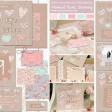Sarah Wants Love is in the air Rustic country vintage wedding stationery and invitations hessian, shabby chic, floral, pattern, pastel, hearts, heart, love heart loveheart thumbnail