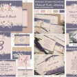 Sarah Wants Midnight Glimmer Rustic country vintage wedding stationery and invitations midnight blue navy blush pink gold glitter lace floral flowers lace thumbnail
