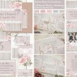 Sarah Wants Mink Rose Rustic country vintage wedding stationery and invitations, dusky rose pink blush lilac grey floral flowers lace whimsical summer garden elegant classy thumbnail