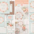 Sarah Wants Rustic country vintage wedding stationery and invitations prairie peach, peach, blush, duck egg, mint, floral, wreath, flowers, pretty, pastel, whimsical thumbnail