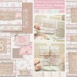 Sarah Wants Floral Furrows Rustic country vintage wedding stationery and invitations, pastel, floral, shabby chic, fabric, sewn, stitching, handmade, pattern, rustic bow, pretty thumbnail