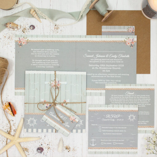 Anchored in Love Wedding showing invitation