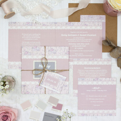 Dusky Dream Wedding showing invitation