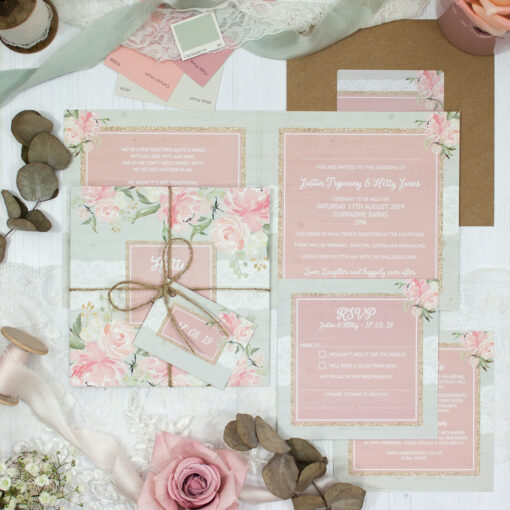 Enchanted Garden Wedding showing invitation