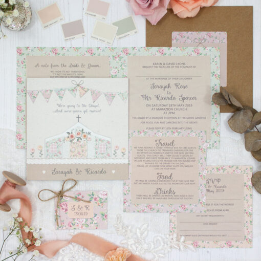 Going to the Chapel Wedding showing invitation