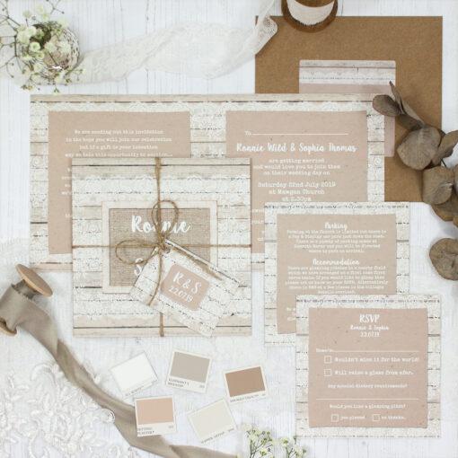 Natural Elegance Wedding showing invitation