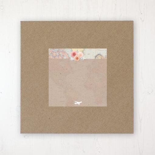 Adventure Wedding Envelope Label on Rustic Brown Envelope