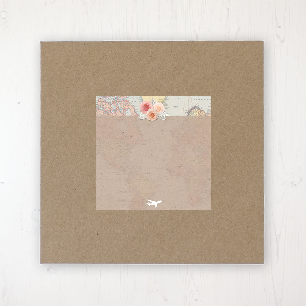 Adventure Wedding Envelope Label on Rustic Brown Envelope