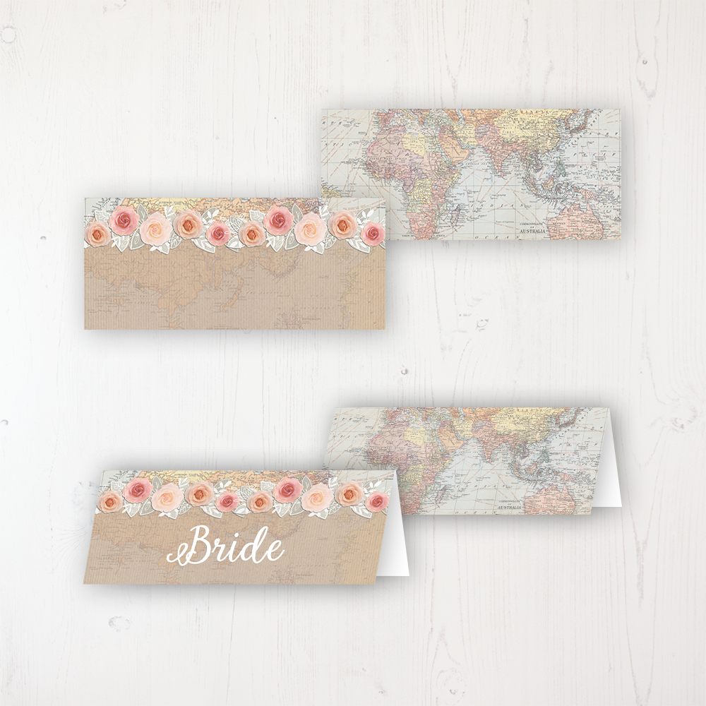 Adventure Wedding Place Name Cards Blank and Personalised with Flat or Folded Option