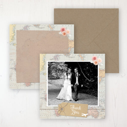 Adventure Wedding with a photo and with space to write own message