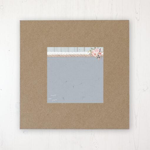 Anchored in Love Wedding Envelope Label on Rustic Brown Envelope