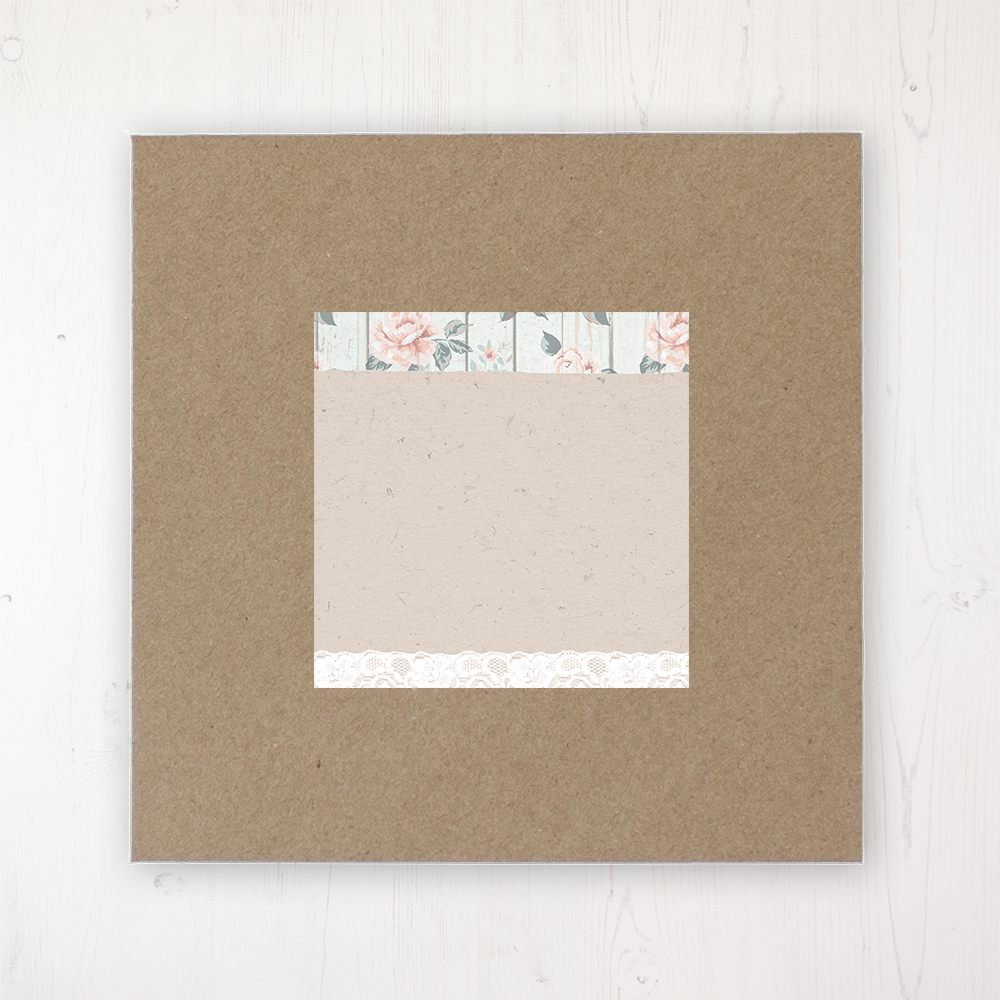 Apricot Sunrise Wedding Envelope Label on Rustic Brown Envelope