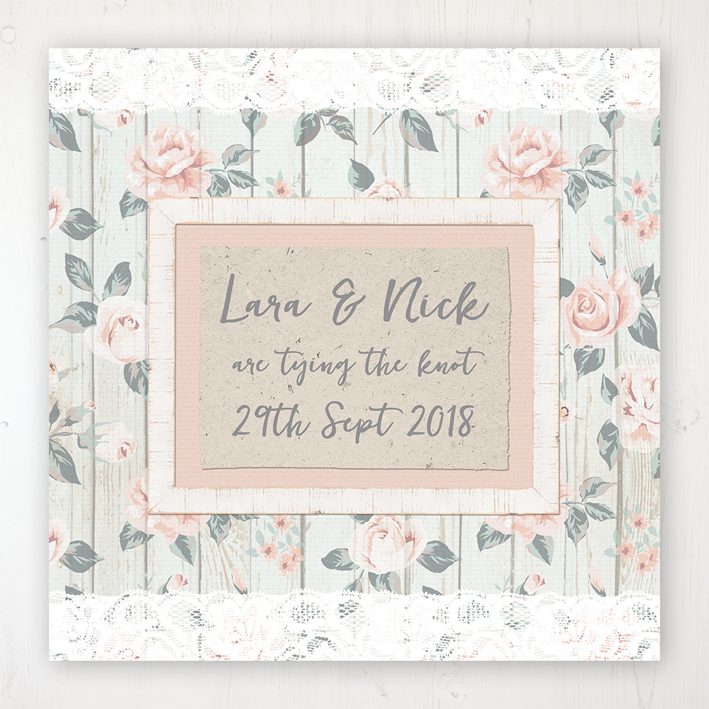 Apricot Sunrise Wedding Collection - Main Stationery Design