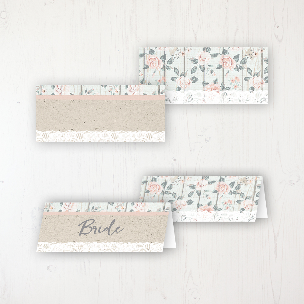 Apricot Sunrise Wedding Place Name Cards Blank and Personalised with Flat or Folded Option