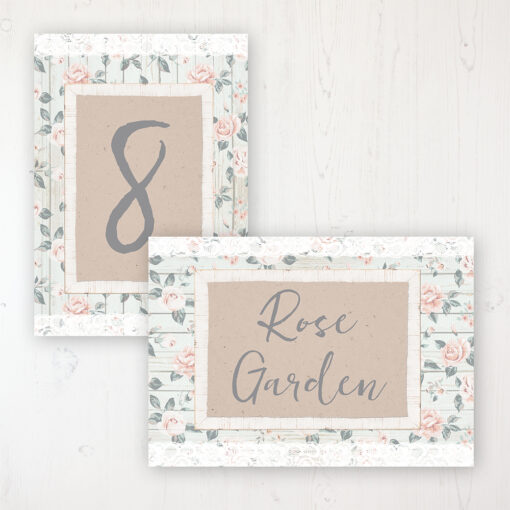 Apricot Sunrise Wedding Table Name & Number Personalised Table Name Card and Number Card