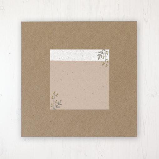 Botanical Garden Wedding Envelope Label on Rustic Brown Envelope