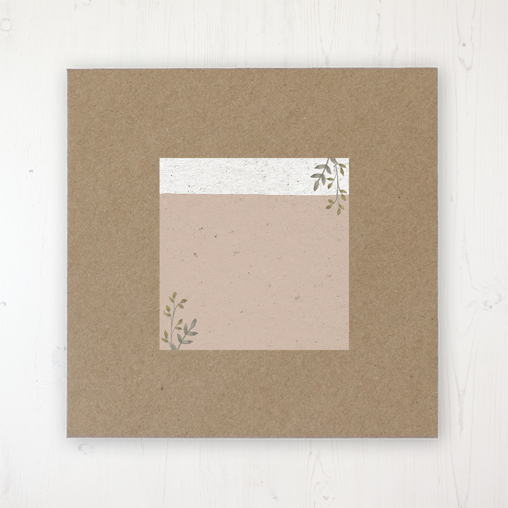 Botanical Garden Wedding Envelope Label on Rustic Brown Envelope