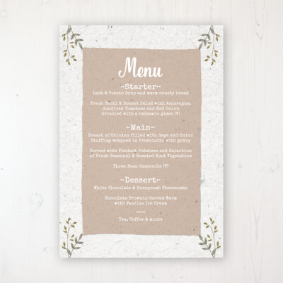 Wedding Menu Cards  Sarah Wants Stationery