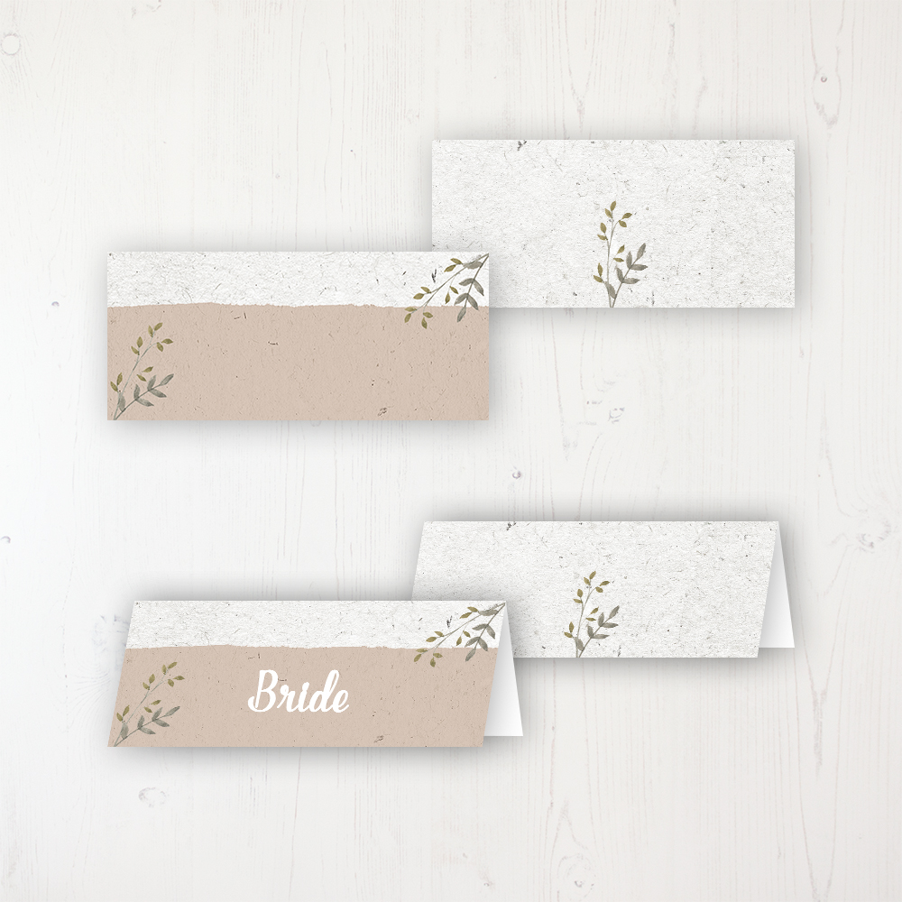 Botanical Garden Wedding Place Name Cards Blank and Personalised with Flat or Folded Option