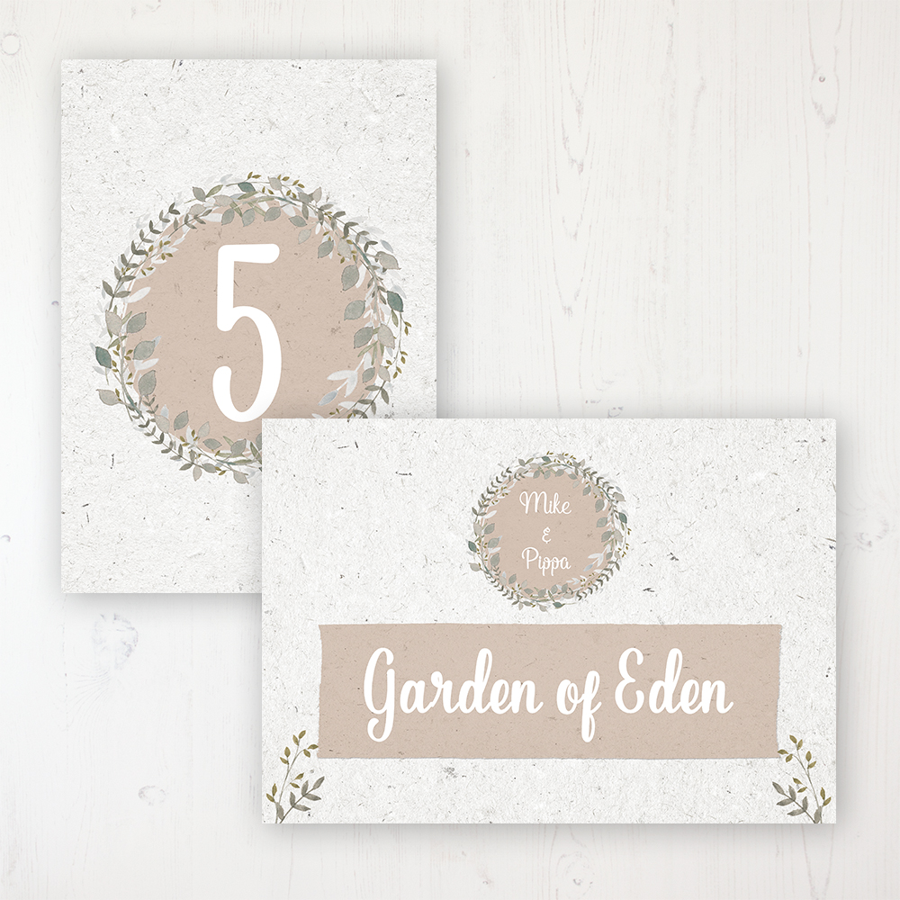 Botanical Garden Wedding Table Name & Number Personalised Table Name Card and Number Card