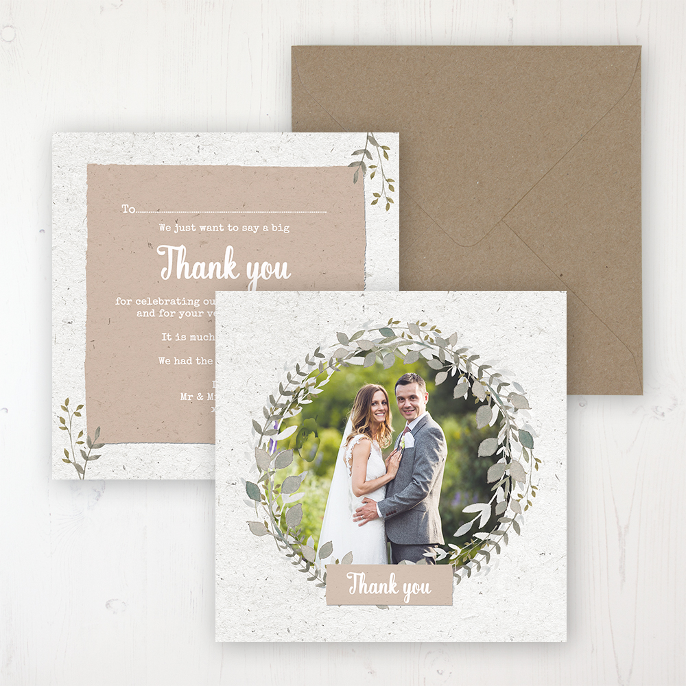 Botanical Garden Wedding with a photo and with space to write own message