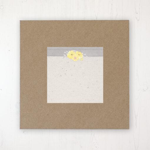 Buttercup Flutter Wedding Envelope Label on Rustic Brown Envelope