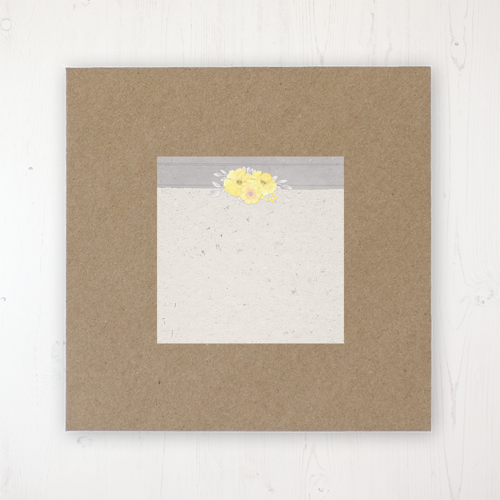Buttercup Flutter Wedding Envelope Label on Rustic Brown Envelope
